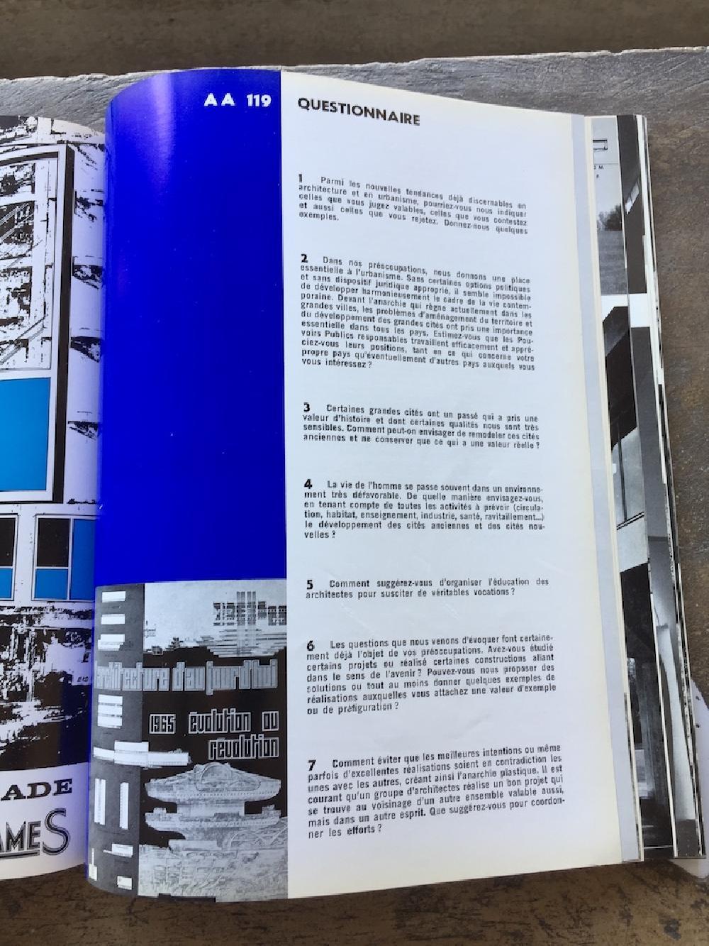 L'Architecture d'aujourd'hui n°119