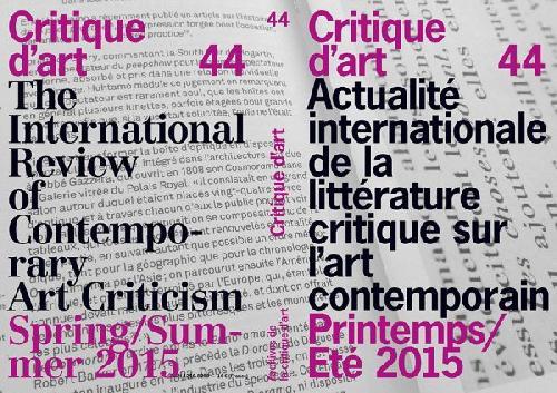 Critique d'art n°44