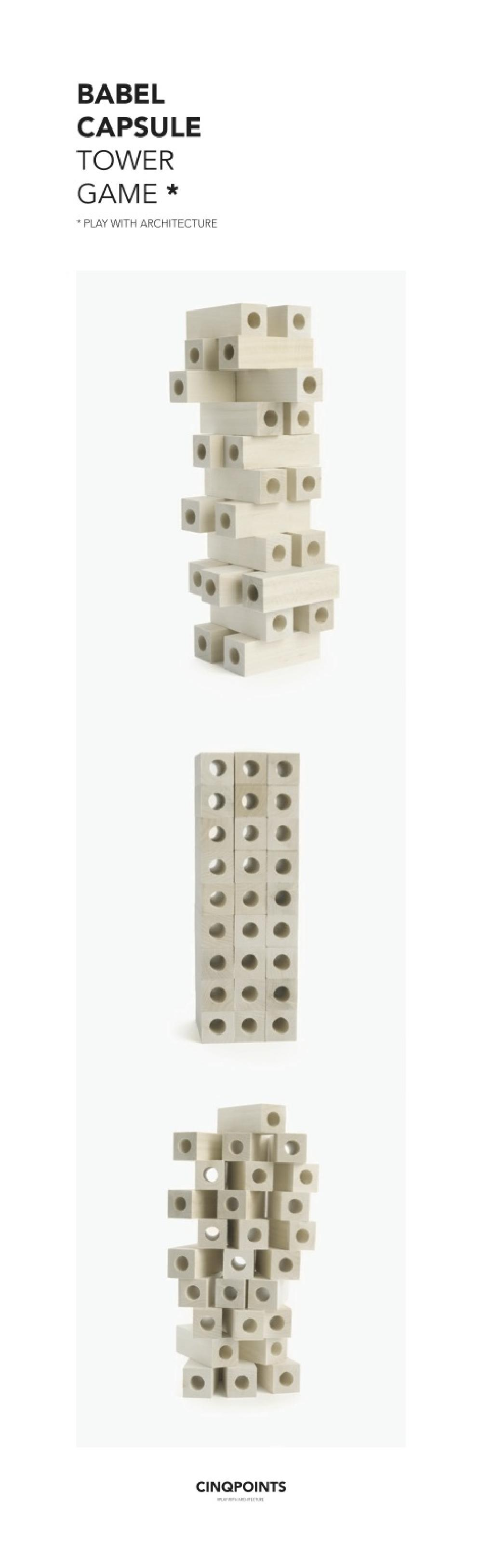 Babel Tower game (Capsule) / Jeu d'adresse