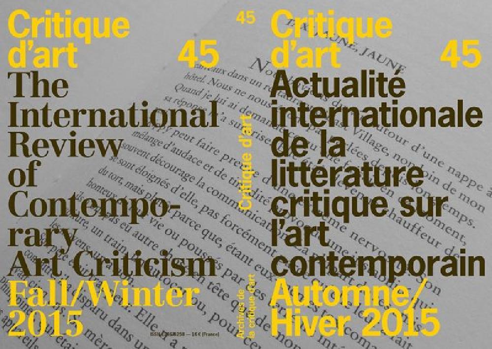 Critique d'art n°45
