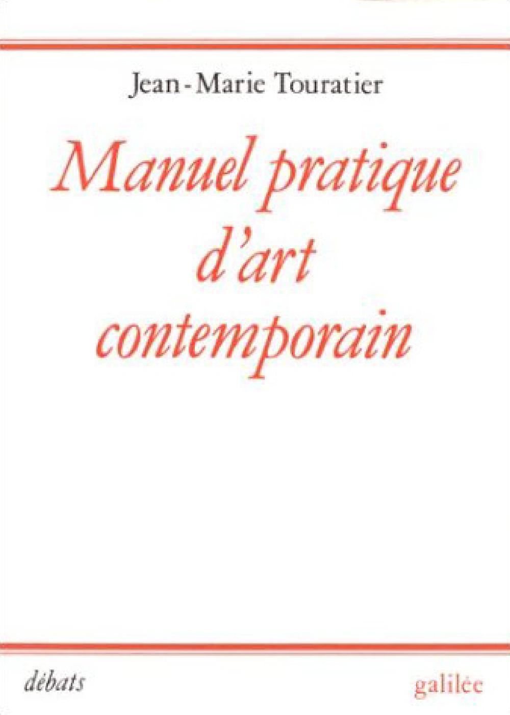 Manuel pratique d'Art contemporain