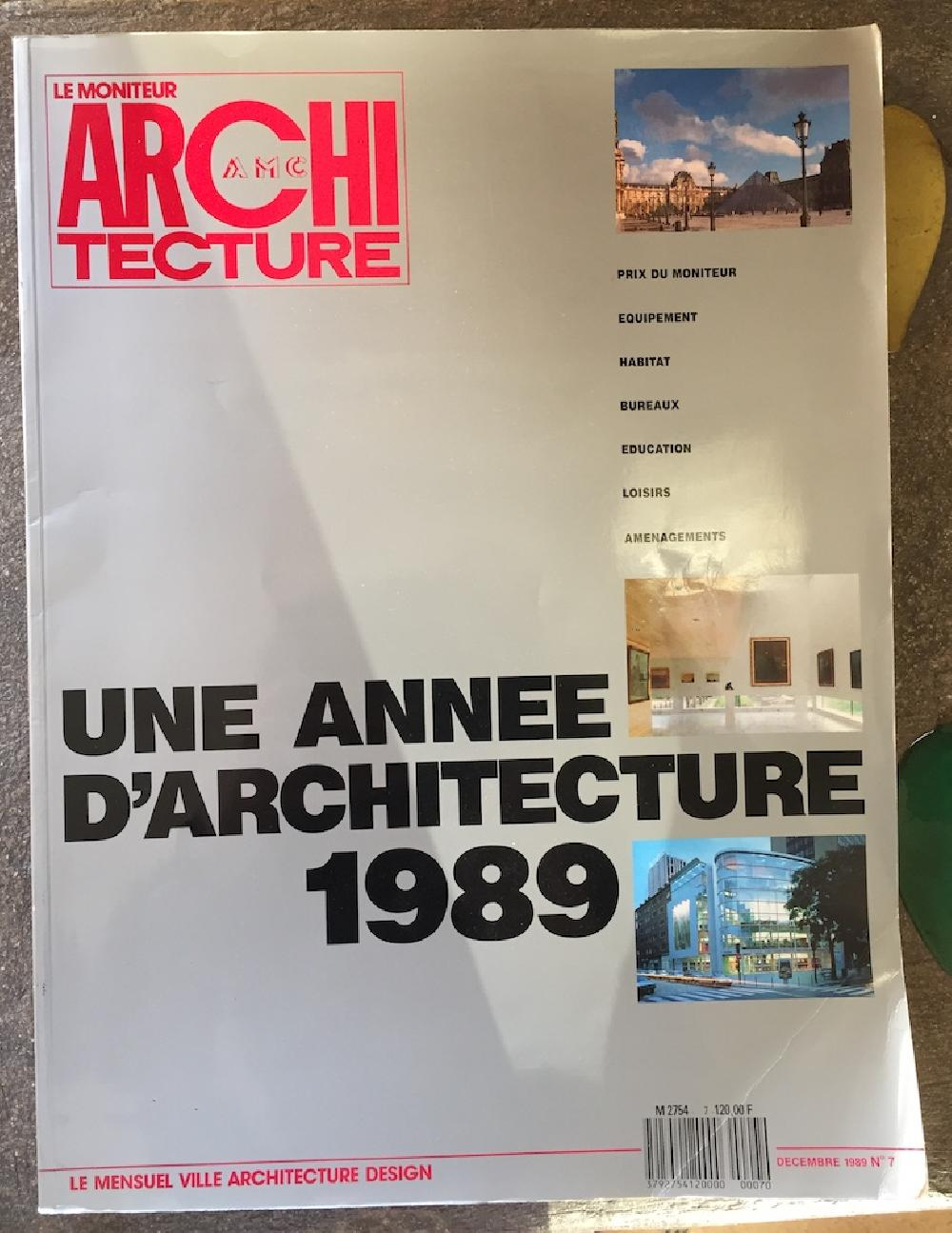 Une année d'architecture 1989