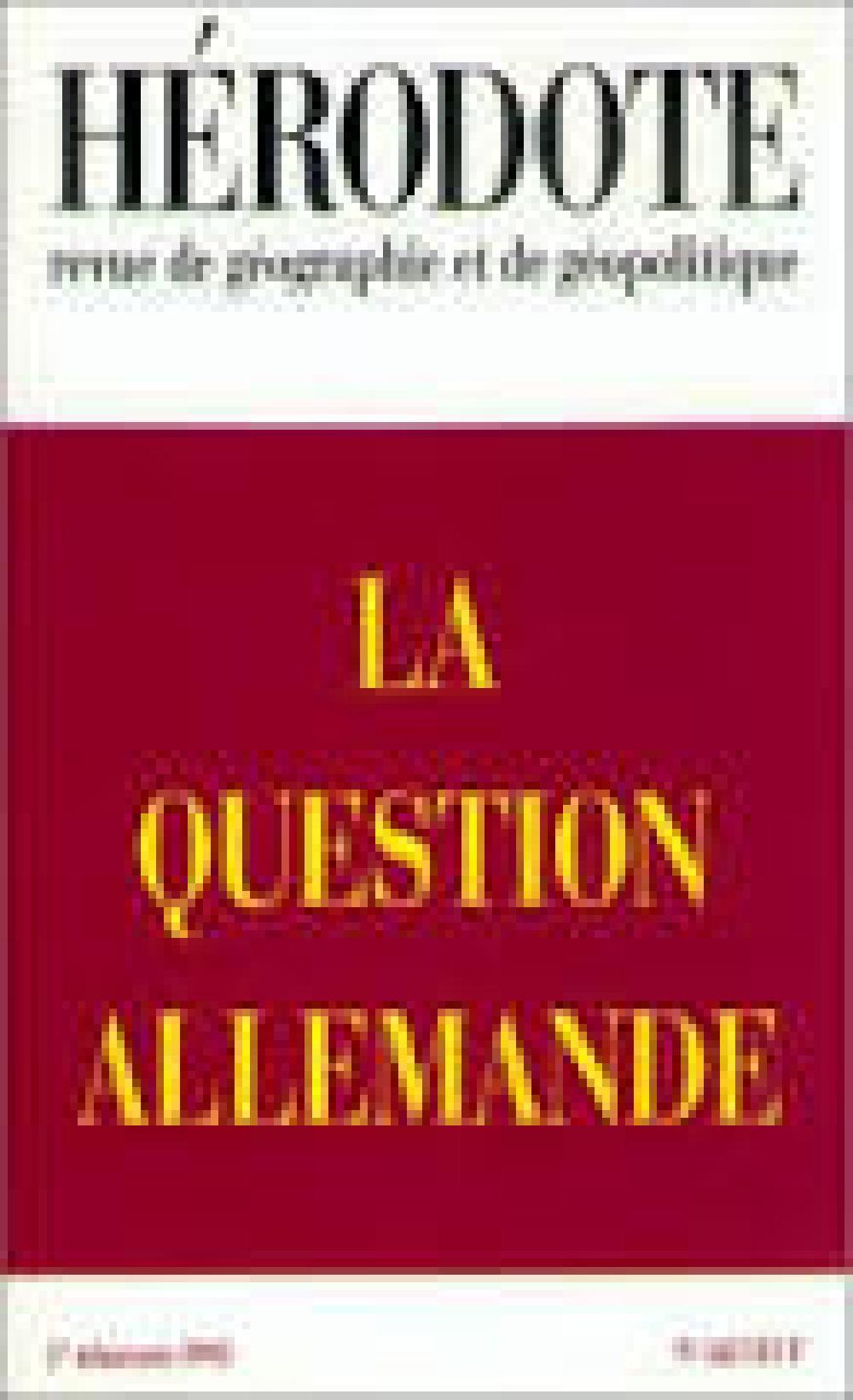 Hérodote n°68 : la question allemande