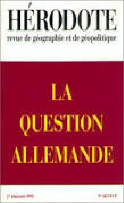 Hérodote n°68 : la question allemande