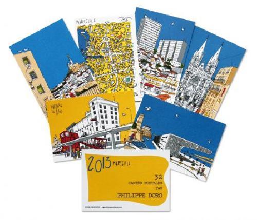 Coffret Marseille 2013 Philippe Doro 32 cartes postales