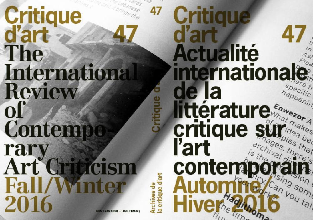 Critique d'Art n°47