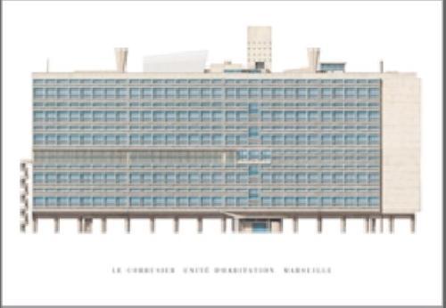 Magnet Le Corbusier - Unité d'habitation Marseille