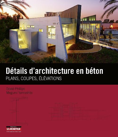 Détails d'architecture en béton - Plans, coupes, élévations