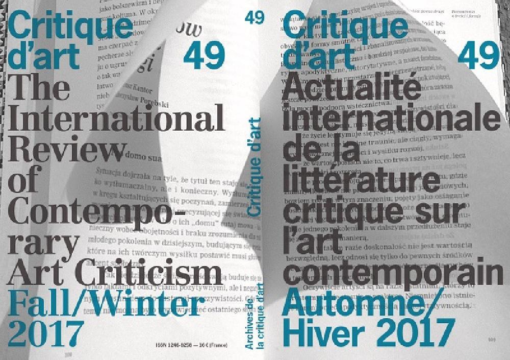 Critique d'art n°49